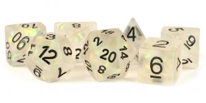 Icy Opal Clear dice