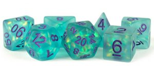 Icy Opal Teal dice