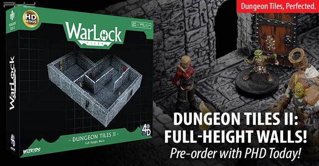 "Plaster Outside Corner Wall x2 WizKids Warlock Tiles D/&D Dungeon 1/"" Tall"