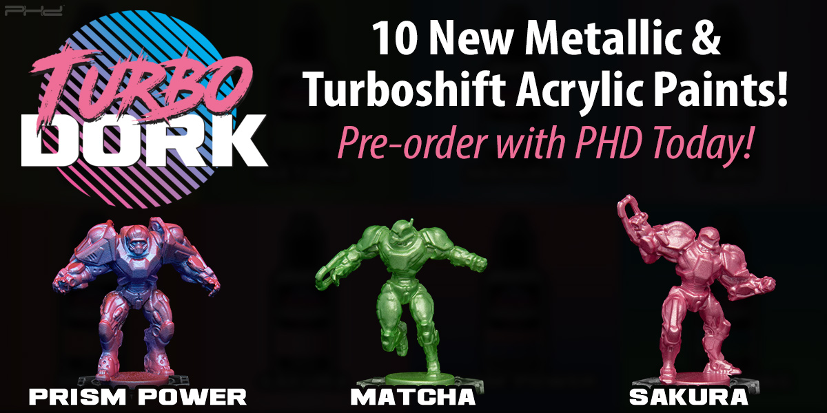 10 New Metallic & Turboshift Acrylic Paints — Turbo Dork