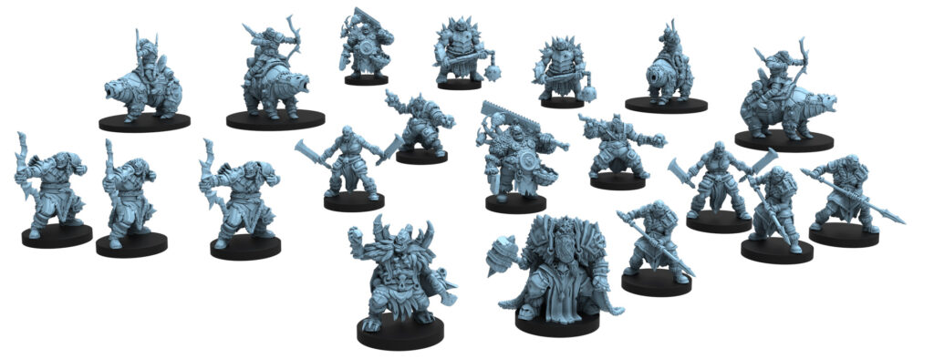 Halls of the Orc King miniatures