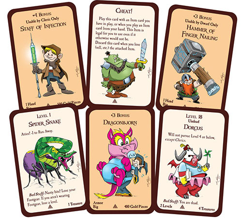 Munchkins & Mazes cards