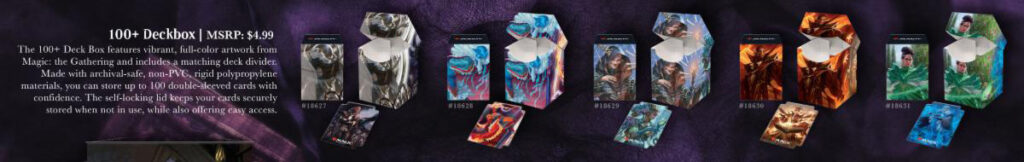 Strixhaven deck boxes