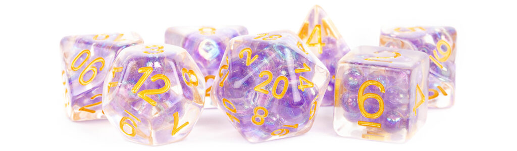 Pearl Purple with Gold Numbers