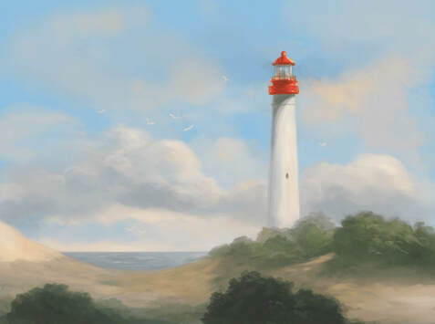 Cape May art: lighthouse