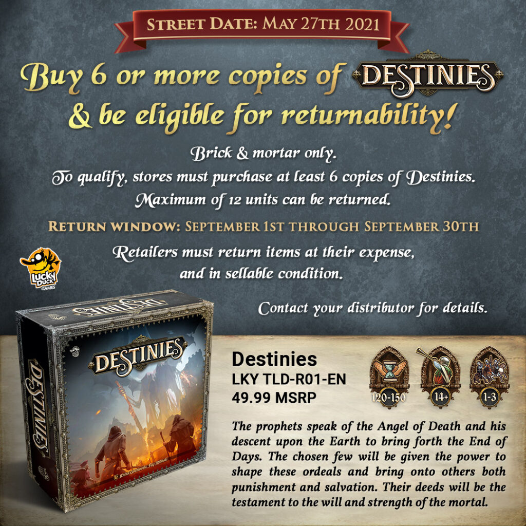 Destinies returnability graphic