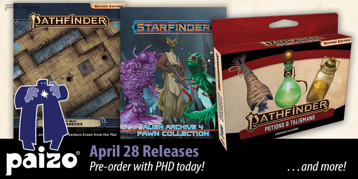 Pathfinder & Starfinder April Releases — Paizo