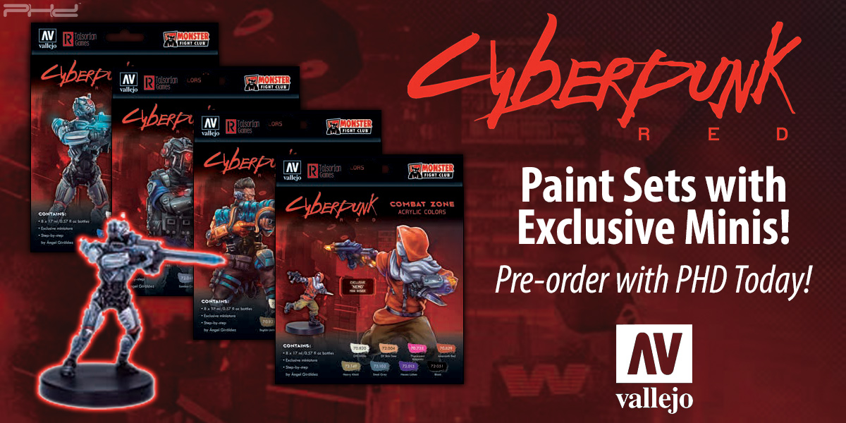 Cyberpunk Red Paint Sets — Vallejo