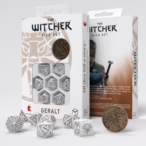 Geralt The White Wolf dice