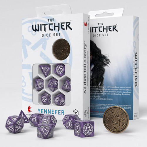 Yennefer Lilac and Gooseberries dice