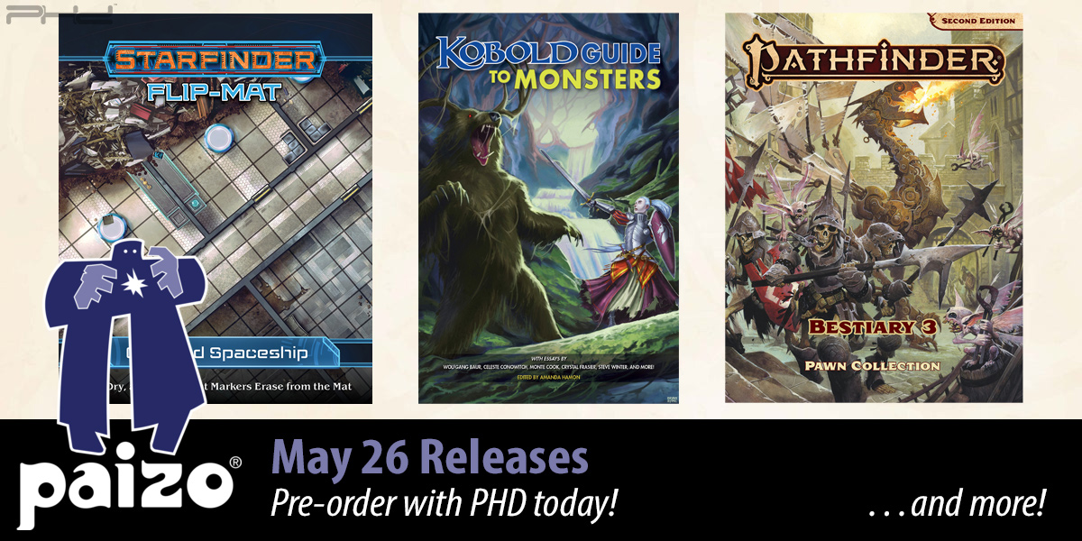 Pathfinder & Starfinder May Releases — Paizo