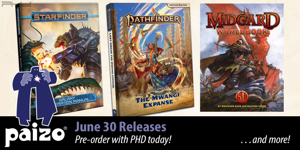 Pathfinder, Starfinder, & 5E June Releases — Paizo