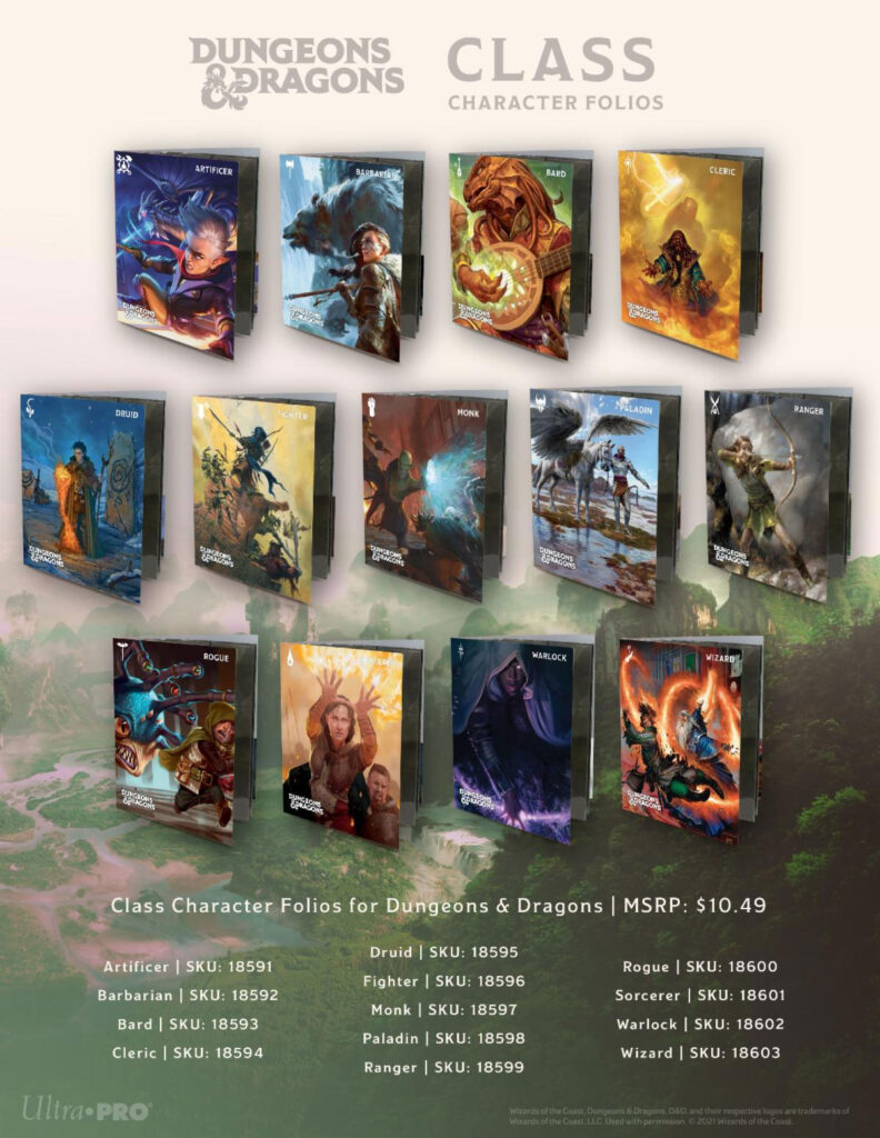 Dungeons & Dragons Class Character Folios