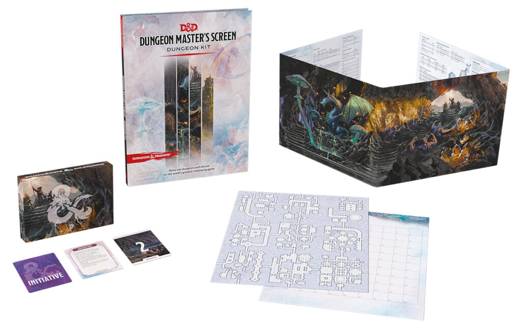 Dungeon Master's Screen Dungeon Kit contents