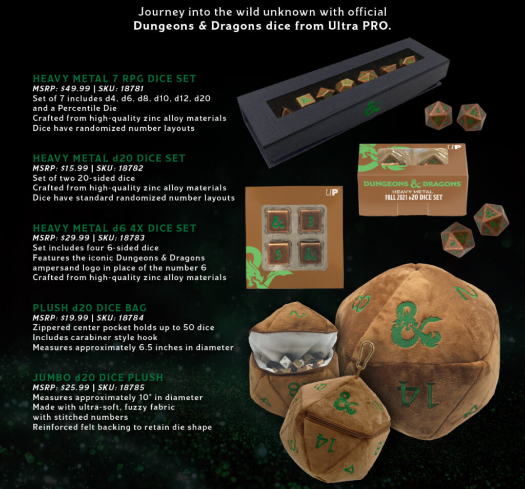 D&D Fall 2021 Copper & Green Dice Collection