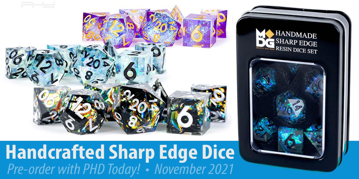 Handcrafted Sharp-Edge Dice — Metallic Dice Games