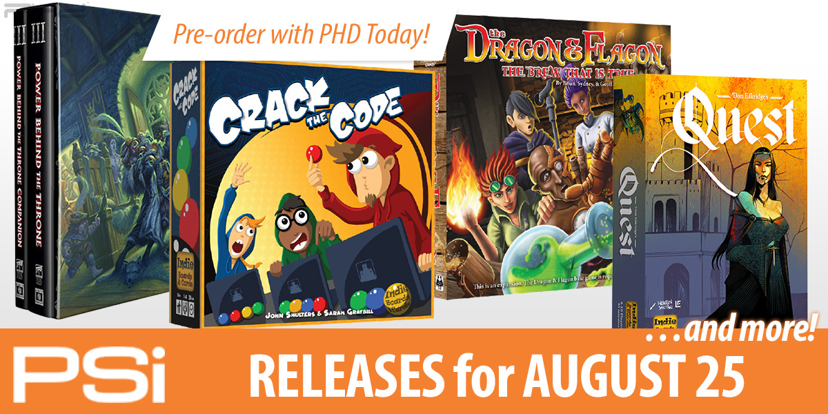 PSI August 25 Releases