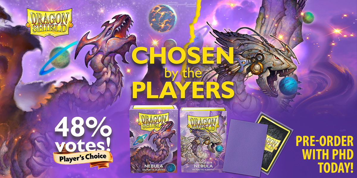 Player's Choice Nebula Matte Sleeves — Dragon Shield