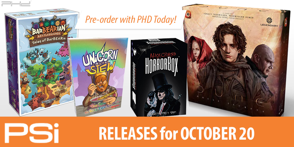 PSI October 20 Releases