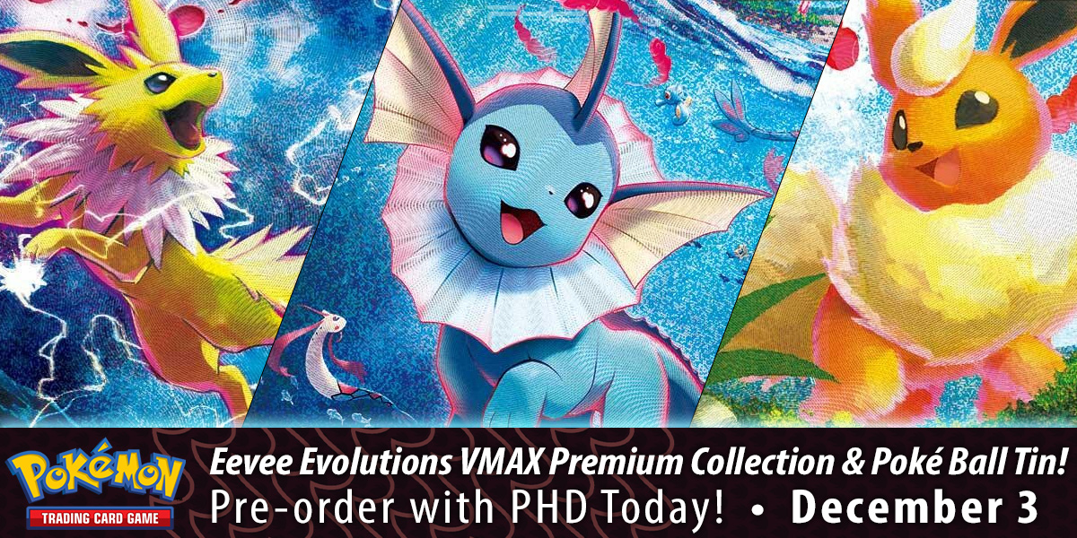 Pokémon TCG: Eevee Evolutions VMAX Premium Collection & Poké Ball Tins