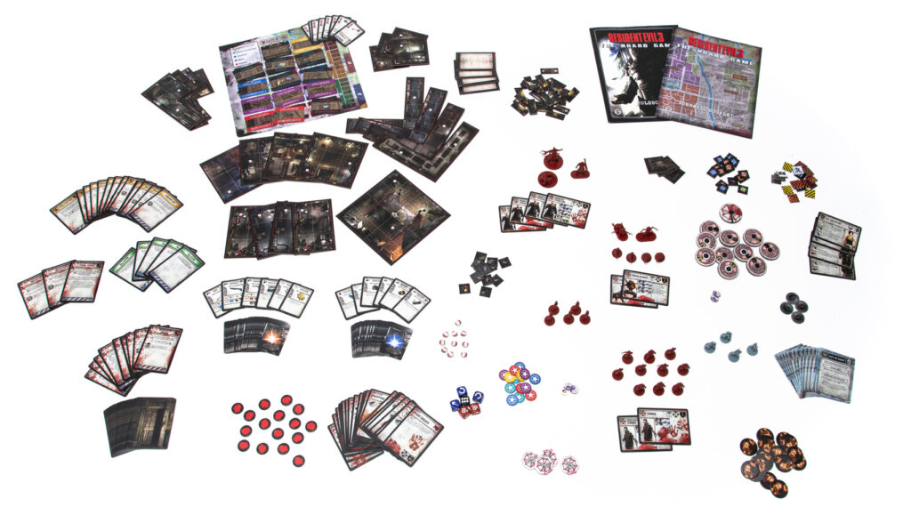 Resident Evil 3: The Board Game components