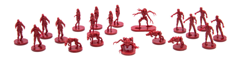 Resident Evil 3: The Board Game miniatures