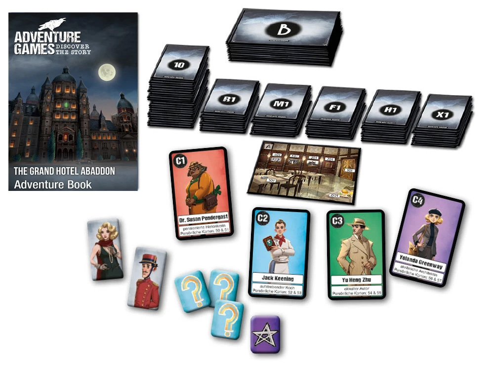 Adventure Games: Grand Hotel Abaddon components