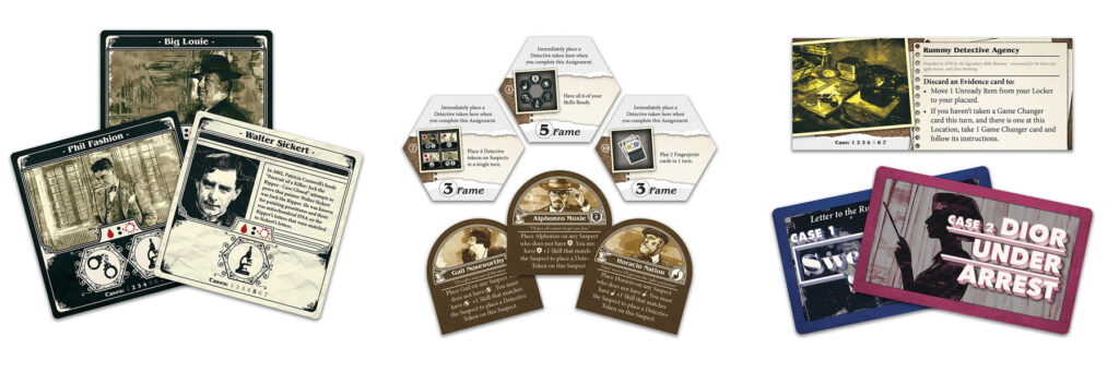 Detective Rummy components sample 1