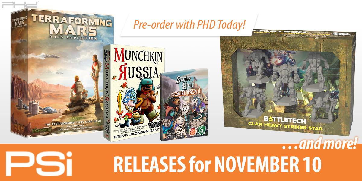 PSI November 10 Releases