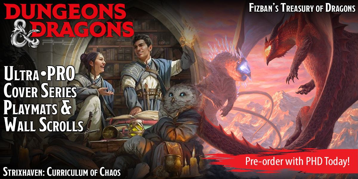 D&D Cover Series: Fizban's Treasury of Dragons & Strixhaven: Curriculum of Chaos — Ultra•PRO