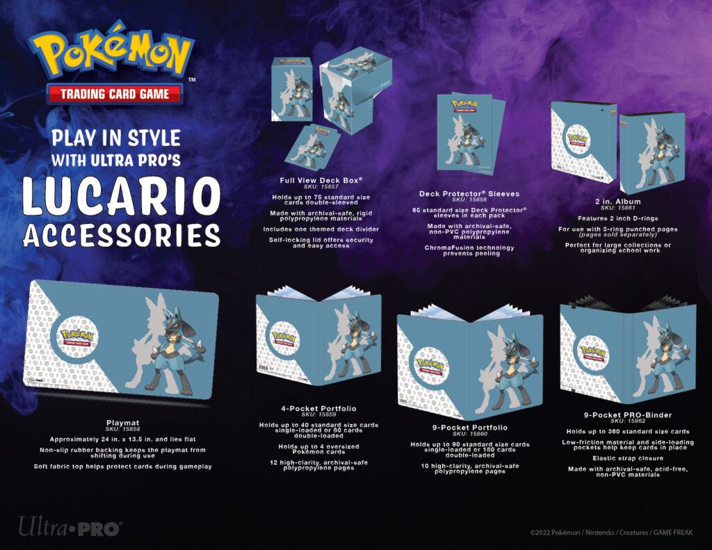 UPR Pokémon Lucario accessories
