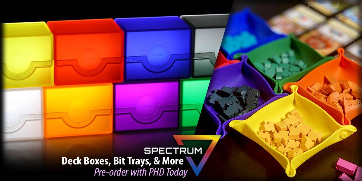 Spectrum Deck Boxes, Bit Trays, & Bit Boxes — BCW Supplies