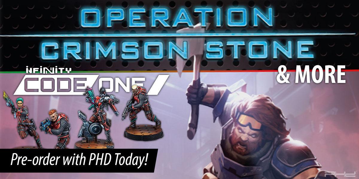 Infinity Codeone: Operation Crimson Stone & More — Corvus Belli