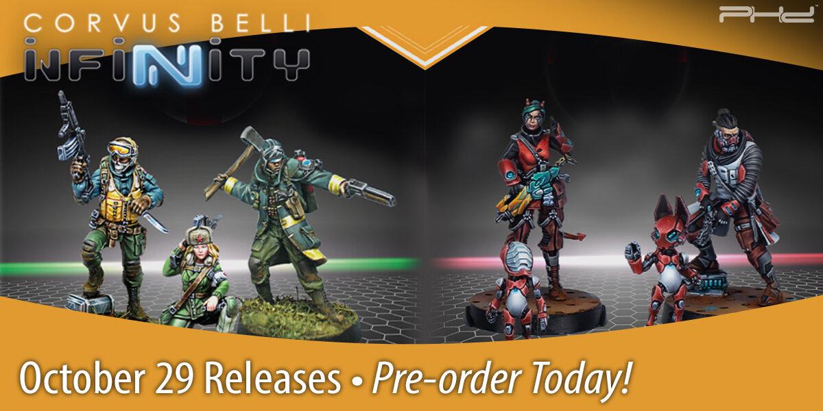 Infinity & Aristeia! October 25 Releases — Corvus Belli