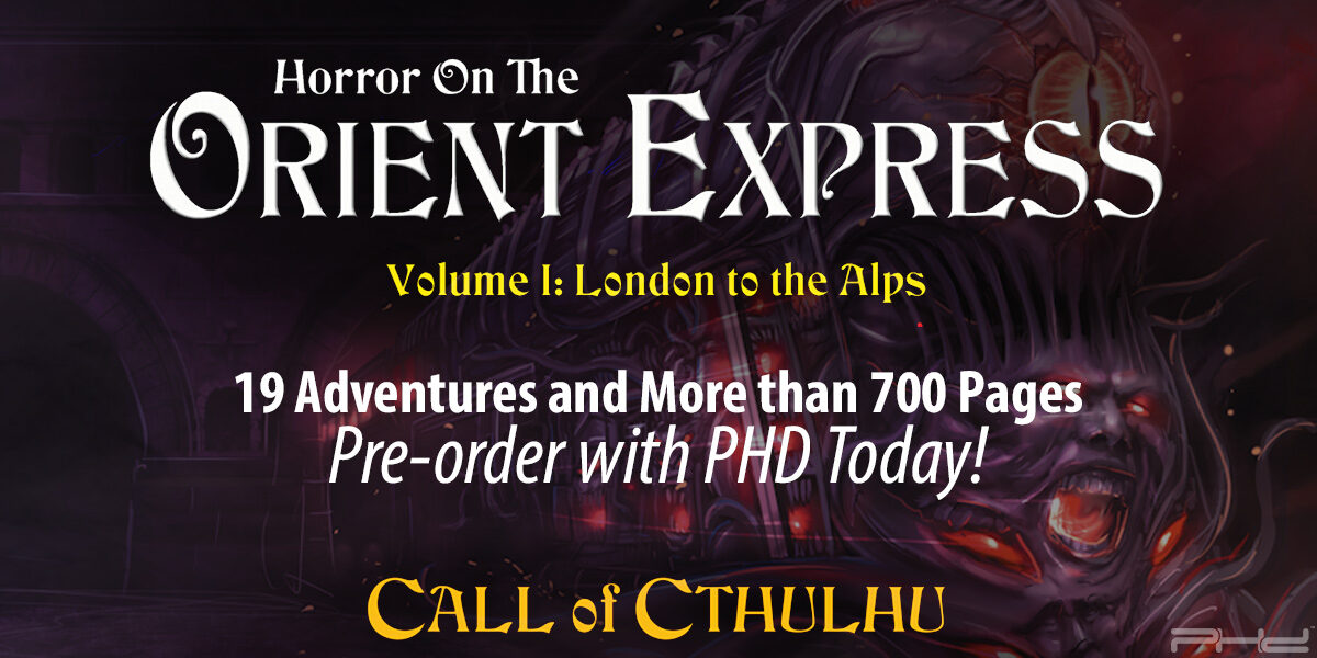 Call of Cthulhu: Horror on the Orient Express — Chaosium Inc.