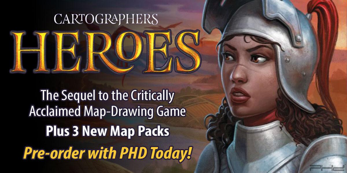Cartographers Heroes & 3 New Map Packs — Thunderworks Games