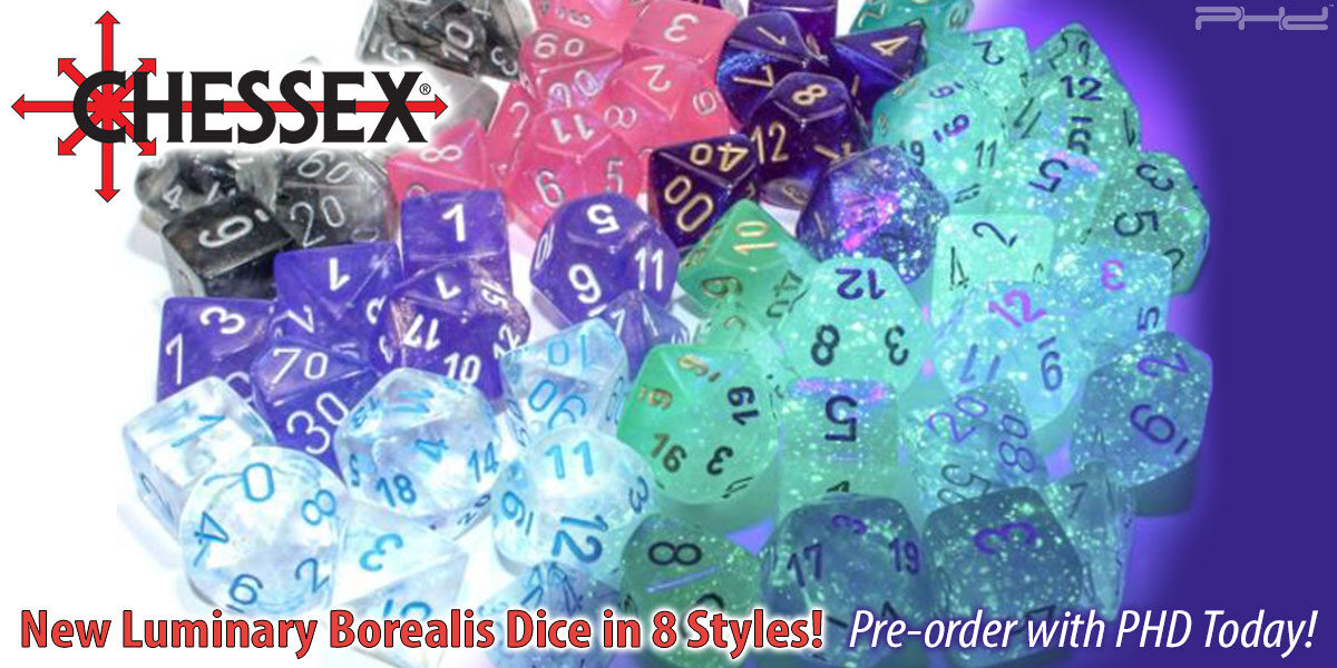 New Borealis Luminary Dice Sets — Chessex