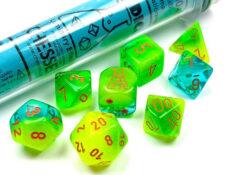 Gemini® Polyhedral Plasma Green-Teal/orange Luminary™ 7-Die Set