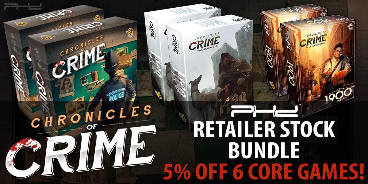 Chronicles of Crime Retailer Stock Bundle — Lucky Duck Games