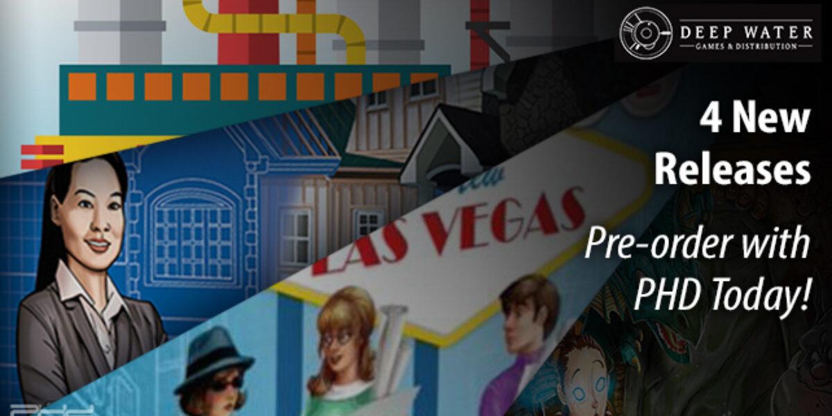 Fantastic Factories, Claim 2, Welcome to New Las Vegas, & Floor Plan — Deep Water Games