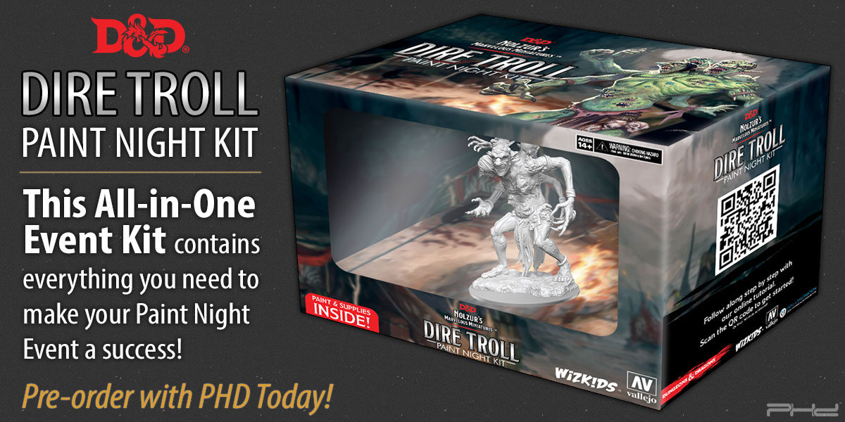 Dire Troll Paint Night Kit — WizKids