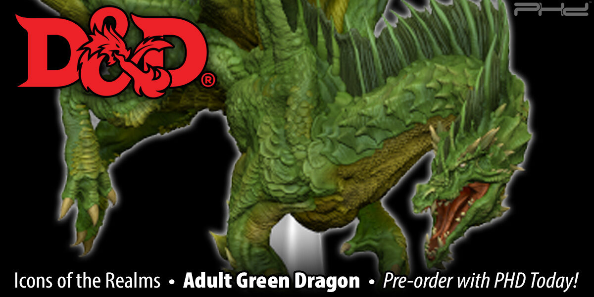 D&D Icons of the Realms: Adult Green Dragon Premium Figure — WizKids