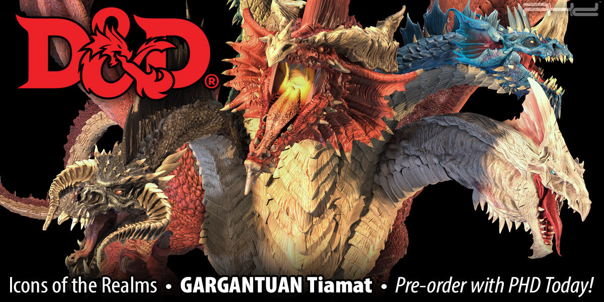D&D Icons of the Realms: Gargantuan Tiamat — WizKids