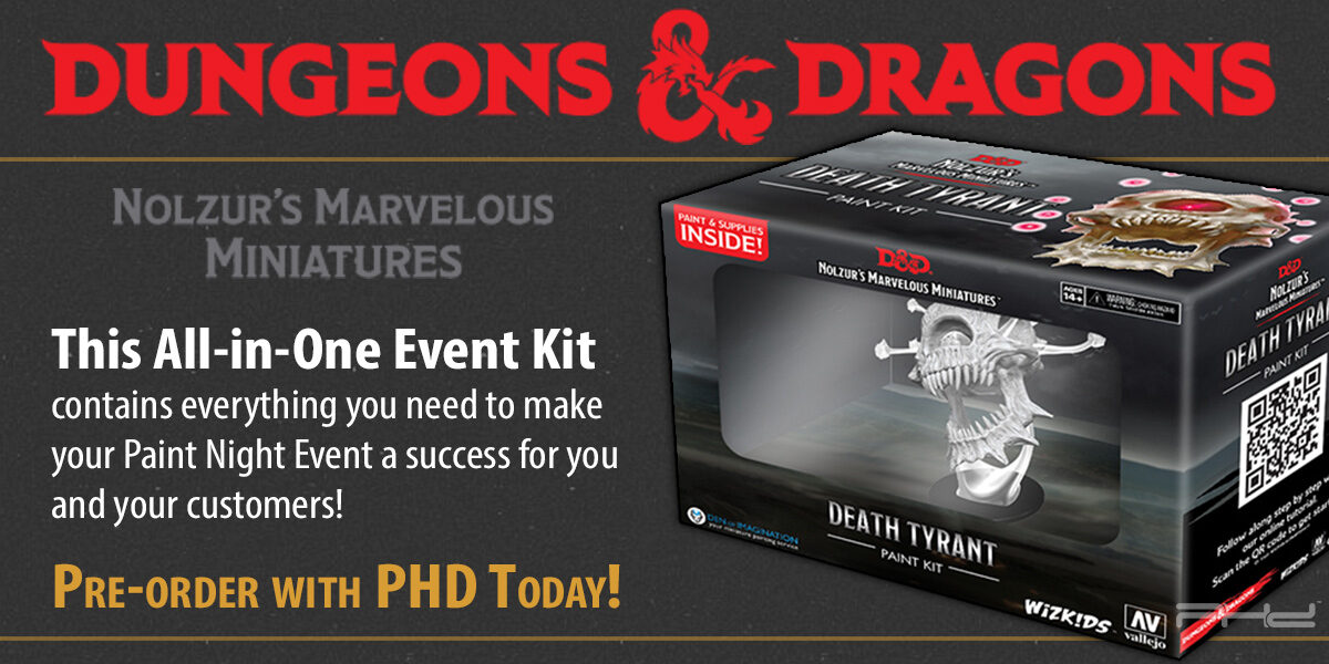 D&D Nolzur's Marvelous Miniatures: Death Tyrant Paint Night Kit — WizKids