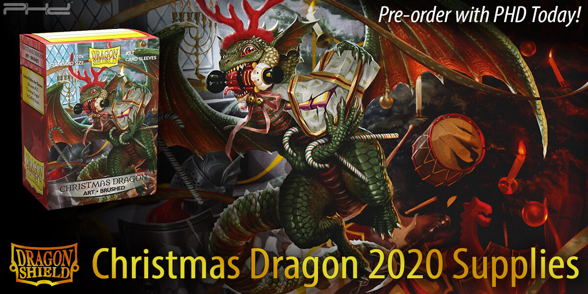 2020 Christmas Dragon Dragon Shield Christmas 2020 Supplies   PHD Games