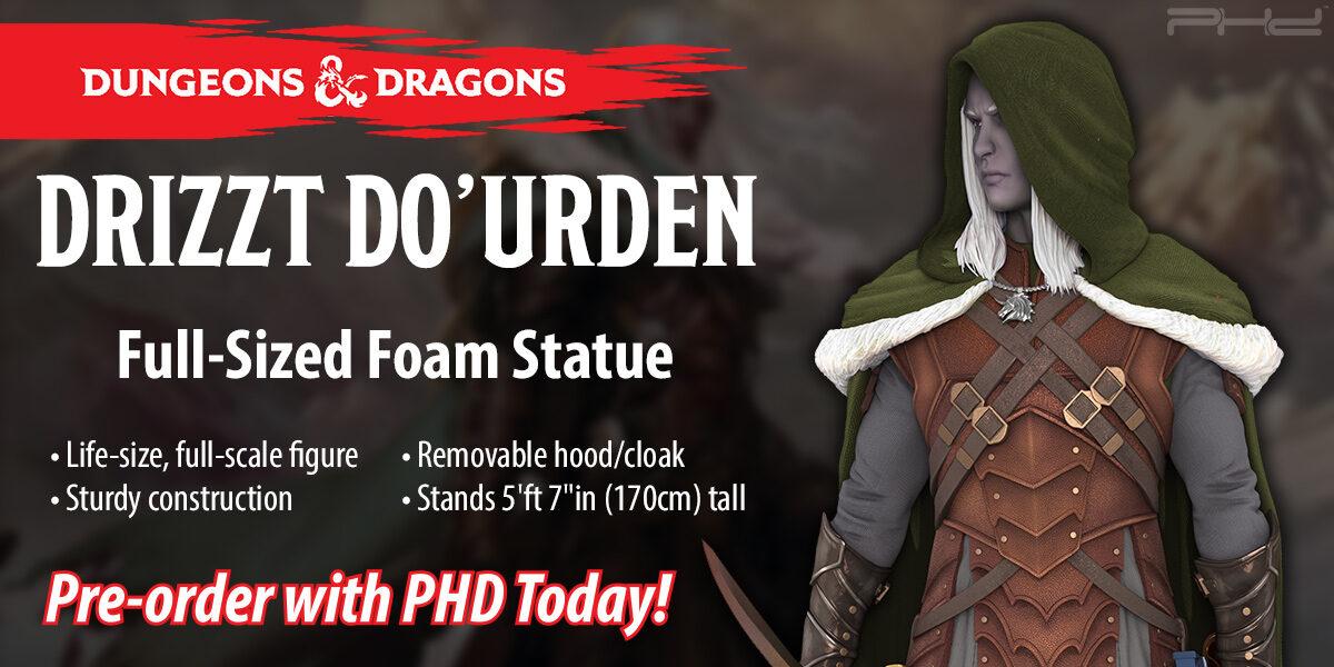 Dungeons & Dragons: Full-Sized Drizzt Foam Statue — WizKids