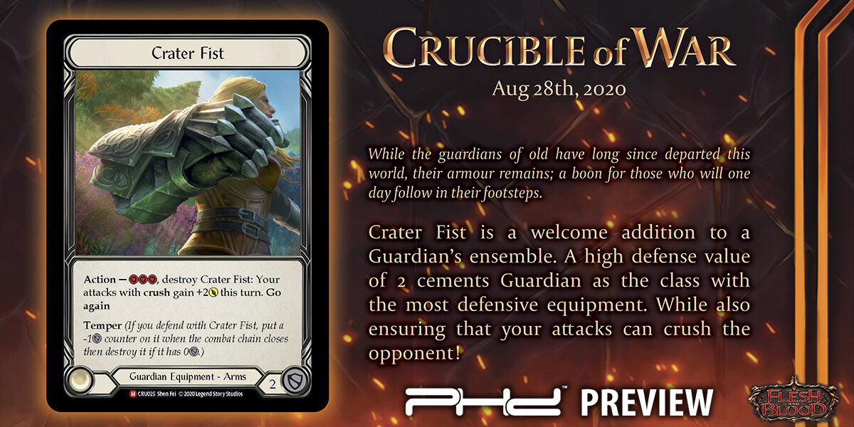 Flesh and Blood: Crucible of War Preview Card!