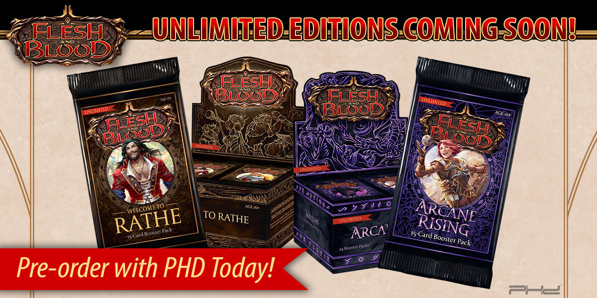 Flesh and Blood: Welcome to Rathe & Arcane Rising Unlimited Editions — Legend Story Studios
