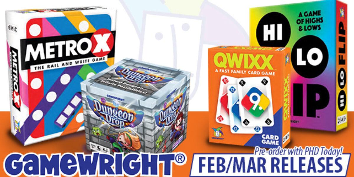 Metro X, Dungeon Drop, Hi Lo Flip, & Qwixx Card Game — Gamewright