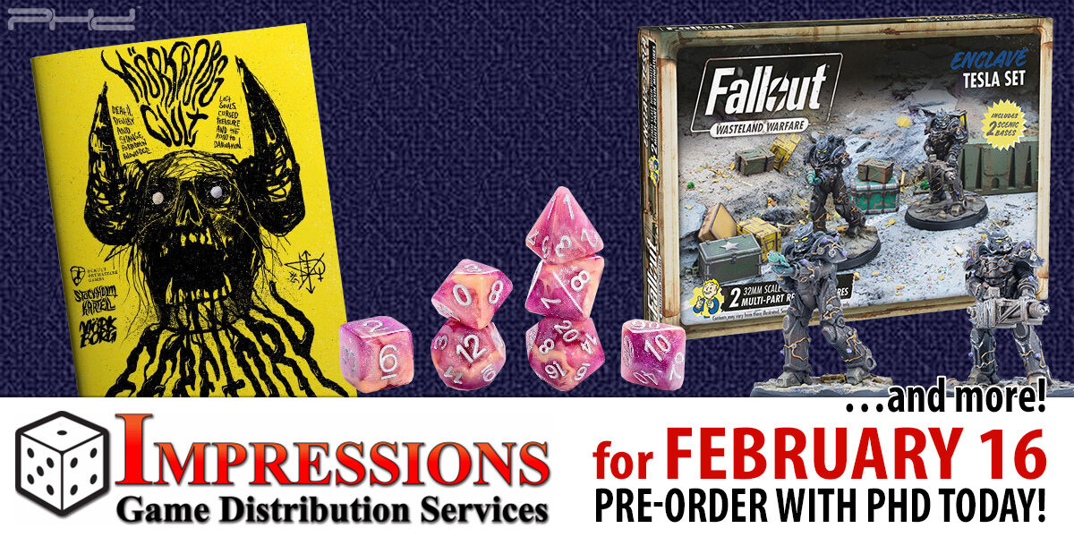 Impressions Releases for February 16